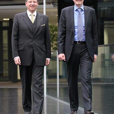 Die neue Doppelspitze der NürnbergMesse