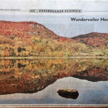iPhone Foto gedruckt auf halber Seite in Tageszeitung