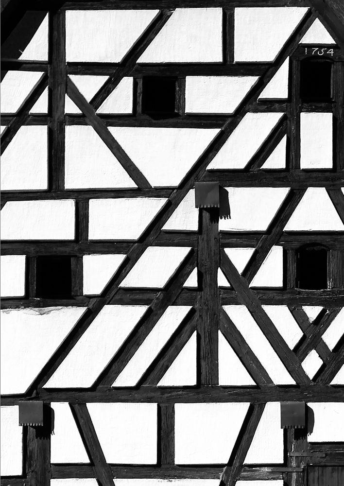 1754 - Fachwerk an einer Scheune in Eschenbach