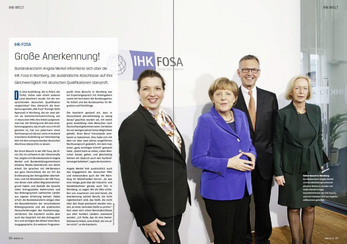 Doppelseite , IHK- Magazin WIM, Mittelfranken
