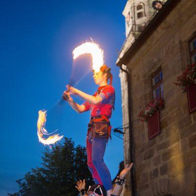 Die lange Nacht der Wallenstein-Festspiele - Lagerleben am 11.07.2015 - Feuershow der Gaukler