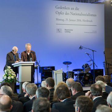 Gedenkakt des Bayerischen Landtags für die Opfer des Nationalsozialismus in Hersbruck