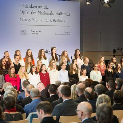 Der Schulchor der Johannes-Scharrer-Realschule