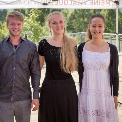 v.l.n.r.: David Volkmer, Julia Trintschuk und Antonia Haslinger