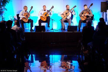 New Worlds - Miscelanea Guitar Quartett - v.l.n.r.: Yorgos Pervolarakis, Manos Anastasakis, Alejandro Diaz Bandres, Kostas Tosidis