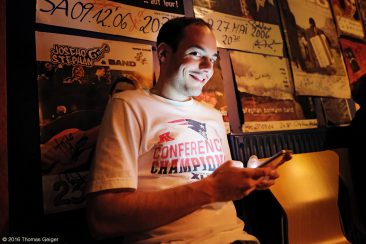 "Jam Session - Organisator Max Weller beim ""Live Facebooken"""
