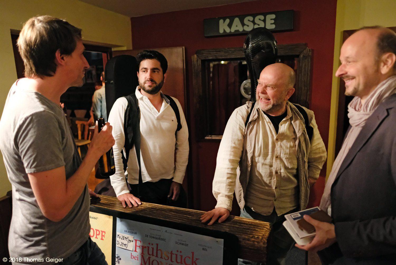 Jam Session mit dem Hanno Busch Trio - v.l.n.r.: Hanno Busch, Rafael Aguirre, Pavel Steidl und Johannes Tonio Kreusch