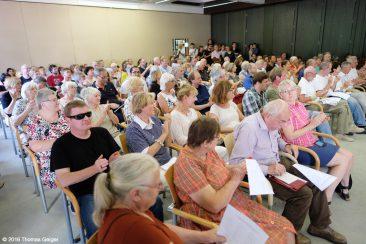 Abschlusskonzert der Festivalteilnehmer im AOK Bildungszentrum Hersbruck - Die Zuschauer
