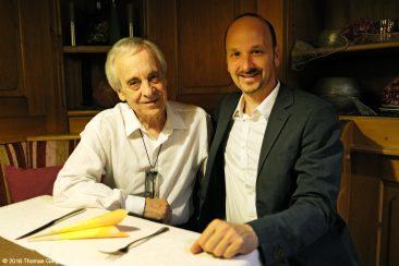 Arte Flamenco - Paco Peña (l) und Johannes Tonio Kreusch nach dem Konzert