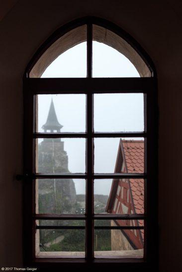 Burg Hohenstein Blick aus dem Fenster im Pallas