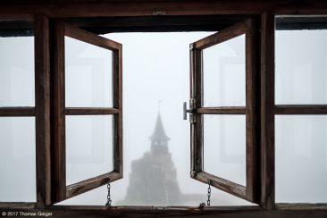 Burg Hohenstein Blick aus dem Fenster in der Turmspitze, Pallas